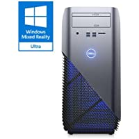 2018 Newest Flagship Dell Inspiron 5675 Premium Gaming VR Ready Desktop Computer (AMD Ryzen 7- 1700 up to 3.7 GHz, 8GB DDR4 RAM, 128GB SSD + 1TB SATA HDD, AMD Radeon RX 580 8GB, DVD, Windows 10)