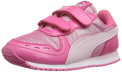PUMA Cabana Racer Glitter V Kids Sneaker (Little Kid/Big Kid/Toddler), Fandango Pink/Lilac, 7 C US Toddler