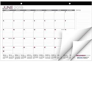 Desk Calendar 2019-2020: 11″x17″ – (Runs from June 2019 Through December 2020)