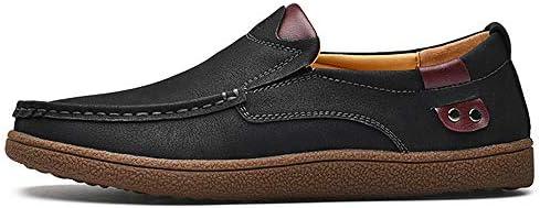 WFQGZ Chaussures en Cuir Fendu Chaussures De Sport pour Hommes Classiques Chaussures De Sport pour Hommes Respirantes Chaussures Plates pour Hommes, Plus La Taille 38-48-Kaki