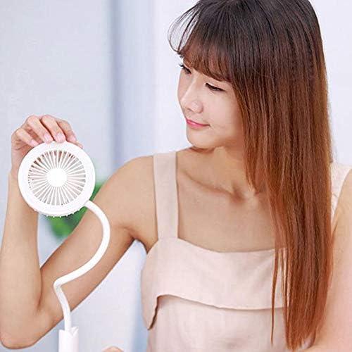 Haixiang USB-Ventilator für den Schreibtisch, leiser Betrieb, geeignet für Studenten, Wohnheim, Büro, Zuhause, Auto, Farbe wie abgebildet