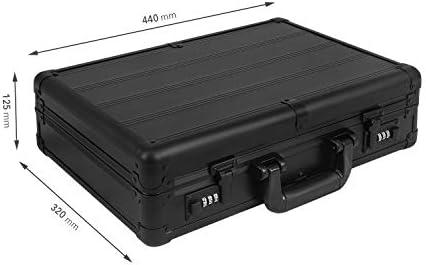 anndora Cocktail Set 7-TLG. Barzubehör Mixer Shaker - Aluminium Koffer Schwarz