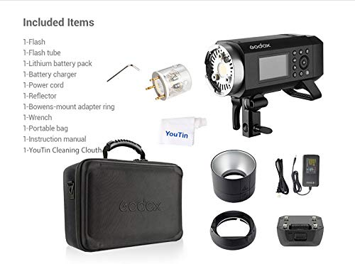Godox AD400Pro 400W TTL Flash 2.4G HSS GN72 1/8000s with Li-ion Battery All-in-One Outdoor Flash Strobe Light Monolight 30W LED Modeling Lamp Compatible for Canon Fuji Sony Nikon Olympus Panasonic by Godox (Image #8)