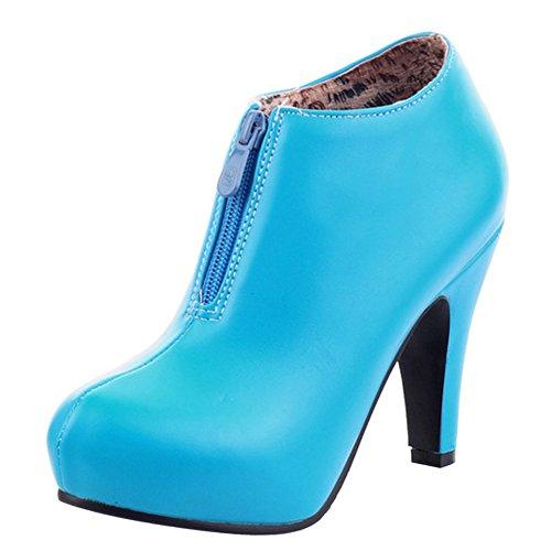 TAOFFEN Women's Booties Boots Zipper Zipper Zipper B077GSL25X Shoes 24ed00