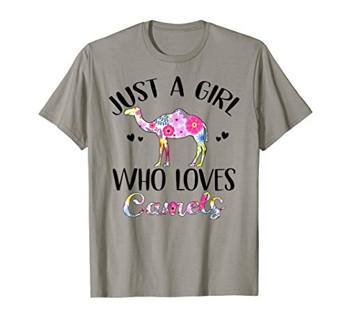 4f67193f8a5f Just A Girl Who Loves Camels Shirt Camel Lover Gift T-Shirt