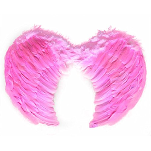 SUKRAGRAHA Angel Feather Wings Christmas Carol Costume Accessory Pink Small