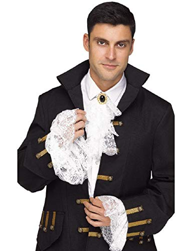 Adult's Mens Shakespearean Royal Jabot and Cuff Costume Accessory Set ()