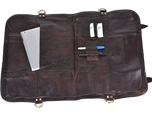 Boldric Brown Leather Knife Bag - 18 Pockets