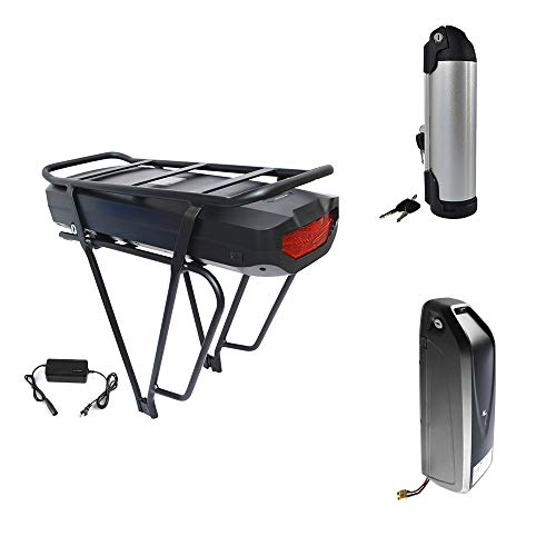 Bike Kettle Battery 48V 10Ah Li-ion Lithium Polymer Battery Water Bottle Shape Rechargeable Battery 8.8/10.4 Ah for Electric Bike with Charger ()
