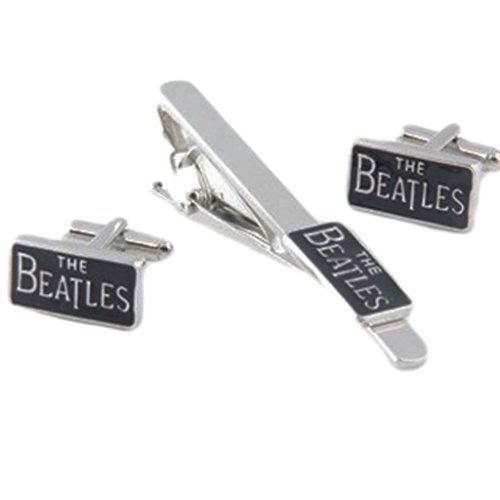 ons Fashion Jewelry ~ The Beatles Metal Cuff Link and Tie Clip Set ()