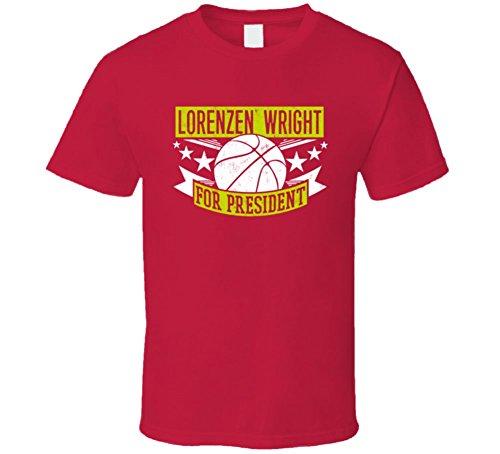 Lorenzen Wright For President Atlanta Basketball Player Sports T Shirt S Red