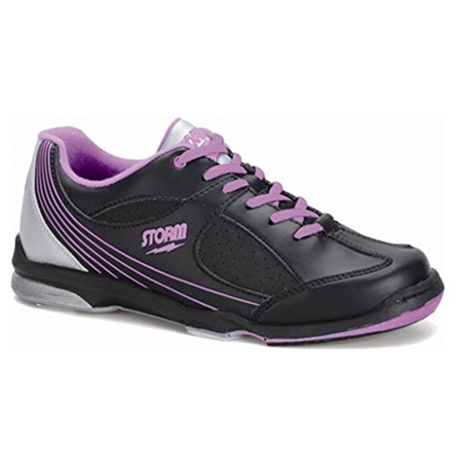 Storm Womens Windy Bowling Shoes (8 1/2 M US, Black/Violet/Silver) by Storm