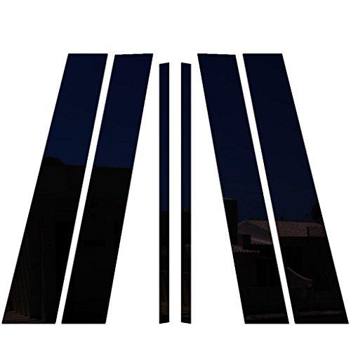 Ferreus Industries Piano Black Pillar Post Trim Cover fits: 2000-2011 Cadillac Deville 4 Door Sedan PIL-007-GB ()