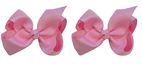 Olivia Boutique Hair Bow Set By Funny Girl Designs (Light ()