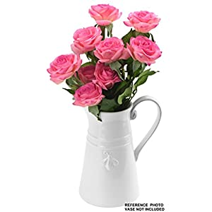FiveSeasonStuff 10 Stems of Real Touch Silk Roses 'Petals Feel and Look like Fresh Roses' Artificial Flower Bouquet for Wedding Bridal Office Party Home Decor 17
