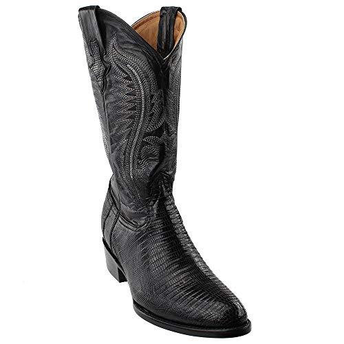 - Ferrini Men's Teju Lizard Cowboy Boot Medium Toe Black 7.5 EE US