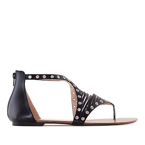 10 Andres Am5279 Machado 42 Musta 8 5 large Eu Roomalainen Uk Koot Sandals Tekonahkainen 45 fzfrx1w
