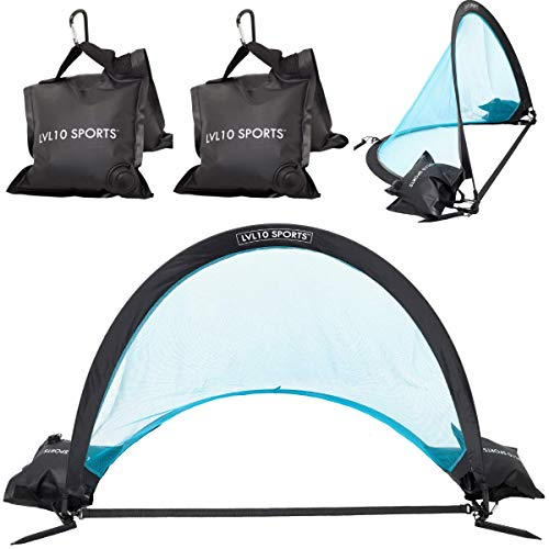 Weighted Pop Up Portable Goals with Heavy Anchor Bags (Set of 2)