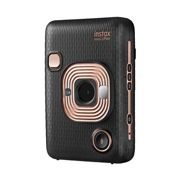 RetinaPix FUJIFILM Instax Mini LiPlay Hybrid Instant Camera (Elegant Black)