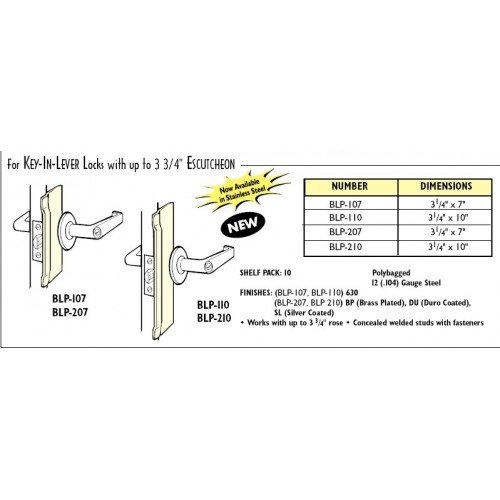 Latch Protector Finish: Silver Coat, Size: 7'' H x 3.25'' W x 0.104'' D