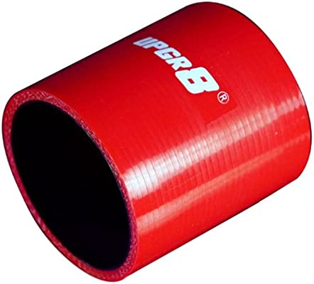 Upgr8 Universal 4-Ply High Performance Straight Coupler Silicone Hose 152MM Length 2.5 , Red 63MM
