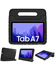 """ProCase Kids Case for Samsung Galaxy 2020 Tab A7 10.4"""" (Model SM-T500/ T505/ T507), Shock Proof Convertible Handle Stand Cover Light Weight Kids Friendly Super Protective Case -Black"""