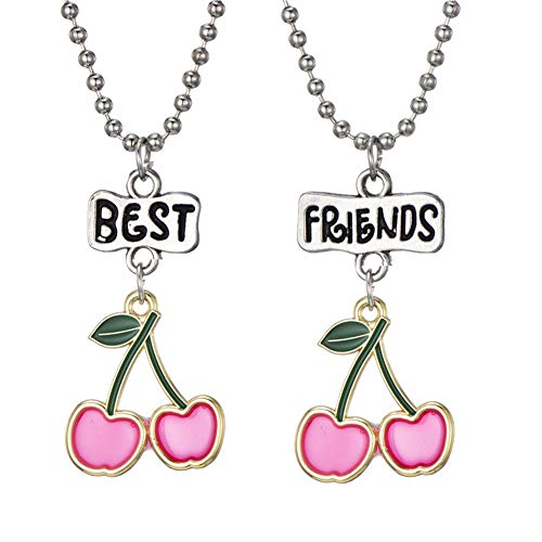 Best Buds BFF Best Friends Cannabis Pot Matching Heart Pendant Necklaces Valentine Forever Friendship Birthday Gift (Ballet Girl) (Diy Best Friend Necklaces)