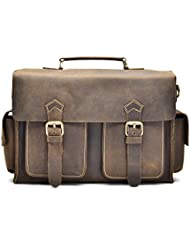 """Hølssen Satchel Briefcase Messenger 13"""" Laptop Genuine Leather Bag"""