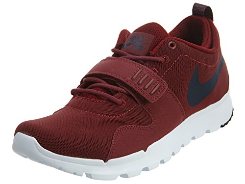 Nike Trainerendor Zapatillas de skateboarding, Hombre Rojo