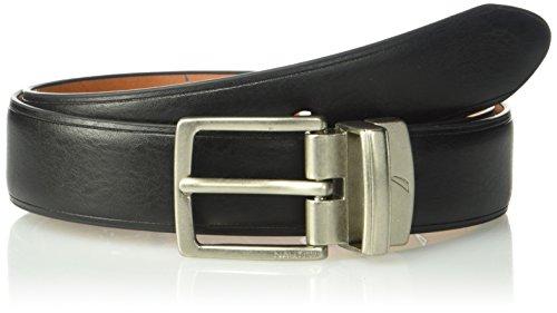 Nautica Big Boy's Reversible Belt, Black/Brown, 28