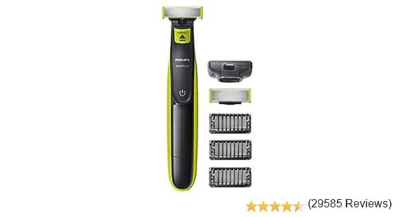 Philips QP2520/30 OneBlade - Recortador de barba, recorta, perfila y afeita, recargable: Amazon.es: Salud y cuidado personal