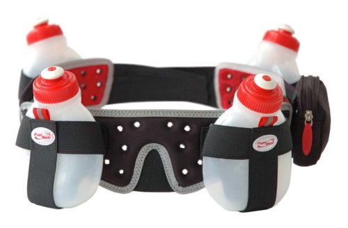 FuelBelt Helium 4 Bottle Belt, Black, Small