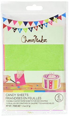 ChocoMaker Assorted Colors Edible Wafer Paper Candy Sheets