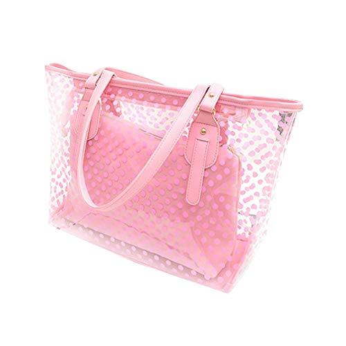 de Hombro Bolsos Purple Jalea la Bolsos claros Las del de Pink Bolsos Casuales de PVC Mujeres TBxCwXnq
