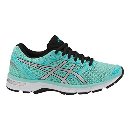 Basketball Signature Silver (ASICS Women's Gel-Excite 4 Running Shoe, Aruba Blue/Silver/Aquarium, 8 M US)