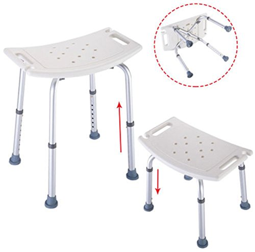 Chair shower Seat Adjustable Medical 8 Height Bathtub Stool Seat White