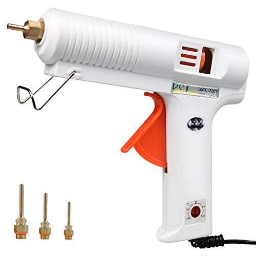 100W Hot Glue Gun with Three Interchangeable Nozzles, BSTPOWER 2T High Temp Heavy Duty Melt Glue Gun, Flexible Trigger Overheating Protection for DIY Small Craft Projects and Home Quick Repairs