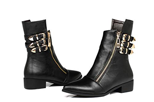 Sandalette-DEDE Zapatos para Mujer/Botas A Woman'S Boots, Pointy Head, Low Boots, Pointy Head, Casual Women's Boots. black