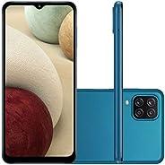 "Smartphone Samsung Galaxy A12 64GB, Tela 6.5"", Câmera Quádrupla 48MP, 4GB RAM -"
