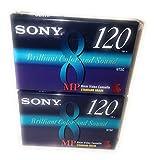 Sony MP 8mm Video Cassette Standard Grade 120 min (2 Pack)