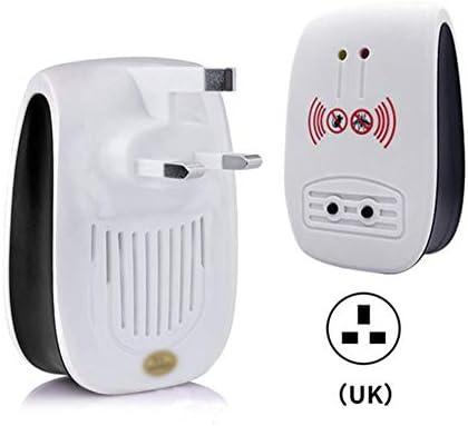 虫除け4つの標準超音波蚊忌避多機能電子マウス撥忌避ゴキブリ昆虫マシン,UK Plug