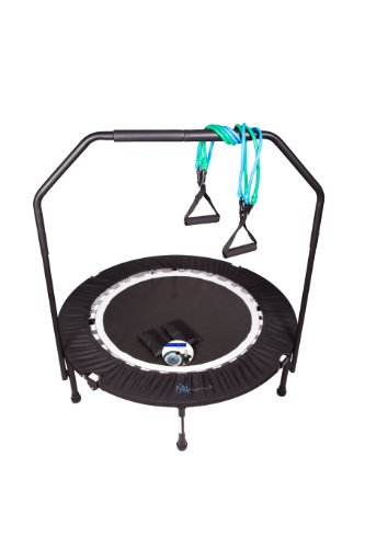 MaXimus Pro Quarter Folding Rebounder Mini Trampoline Includes Compilation DVD with 4 workouts, Stability Handle Bar, Storage/Carry Bag, Resistance Bands Weights FREE 3 MONTHS ONLINE VIDEO MEMBERSHIP! Review