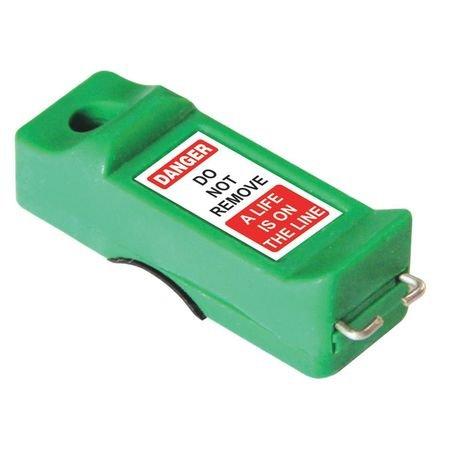 Miniature Circuit Breaker Lockout, Green