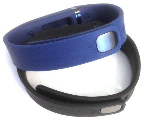 [해외]세트 큰 L 1pc 네이비 1pc 블랙 교체 밴드 Fitbit FLEX 전용 Claspps 없음 추적기 무선 활동 팔찌 스포츠 팔찌 맞는 비트 플렉스/Set Large L 1pc Navy 1pc Black Replacement Bands with Clasps for Fitbit FLEX Only  No tracker  Wireless Activi...
