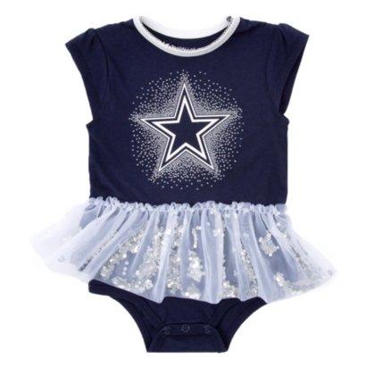 Dallas Cowboys Baby Clothes - Dallas Cowboys Infant Prissy Bodysuit