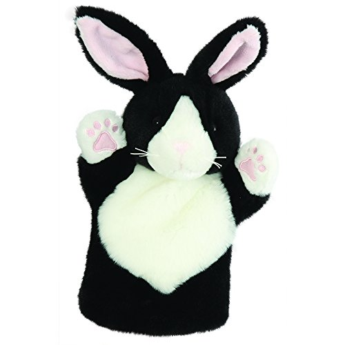 The Puppet Company CarPets Black & White Rabbit Hand Puppet