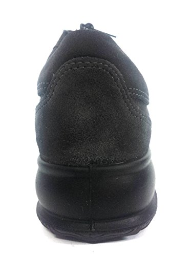 6973 GRIGIO SCURO Scarpa donna sneaker Enval Soft pelle made in Italy