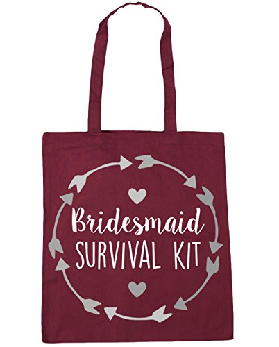 Bridesmaid 42cm kit Shopping Bag Gym survival HippoWarehouse 10 Beach x38cm Tote litres Burgundy FganWF8Z