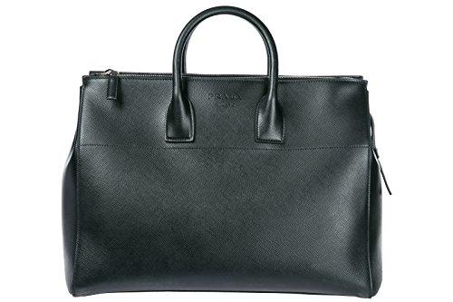 Prada travel duffle weekend shoulder bag black by Prada