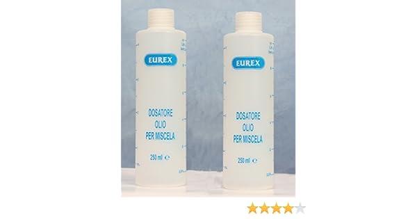 2 x Medidor de aceite con tapa - Dosificador para mezcla de 1 a 7 ...